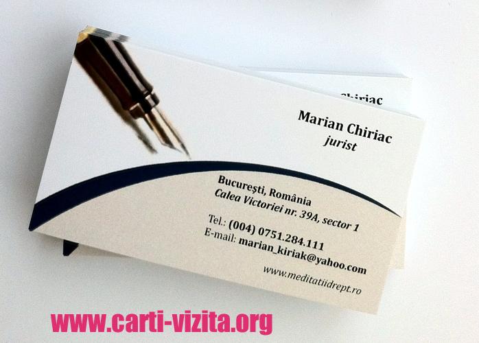 Modele carti de vizita jurist