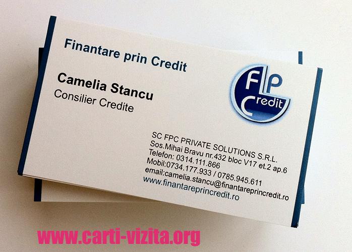 Carti de vizita financiar - finante - banci