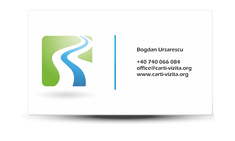 model carte de vizita - simpla cu logo