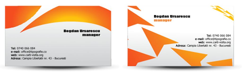 Modele carti de vizita orange