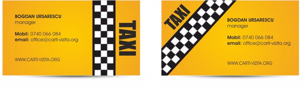 Model carti de vizita taxi