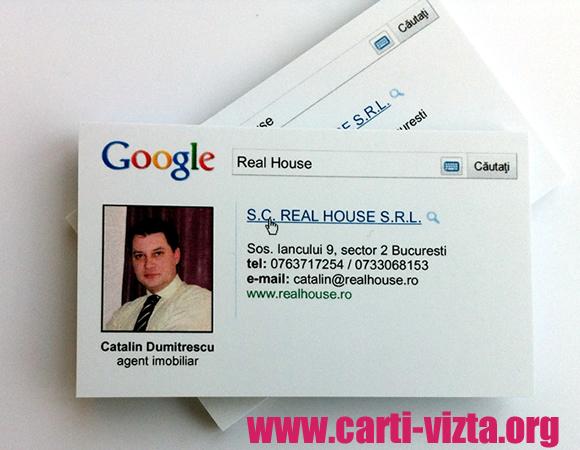 carti de vizita google