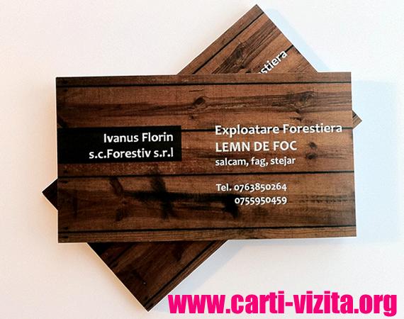 Carti de vizita - textura lemn