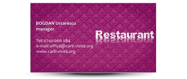 carte vizita restaurant