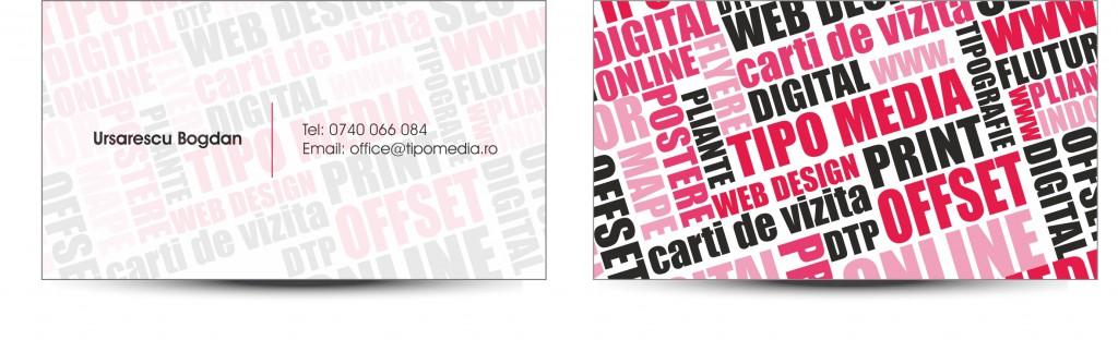Carti de vizita tipografie