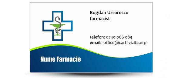 carte de vizita farmacie