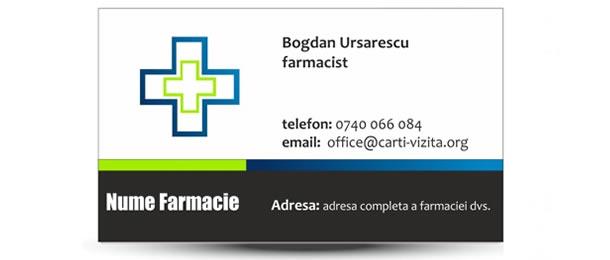 Carte vizita farmacist