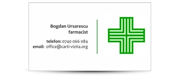 carte vizita farmacie - farmacist