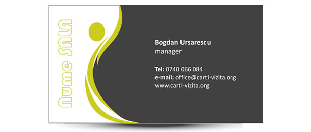 Carte de vizita salon wellness