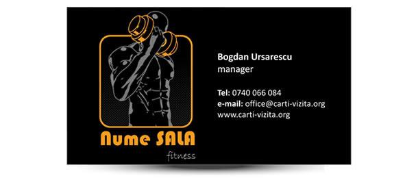 carte de vizita antrenor fitness