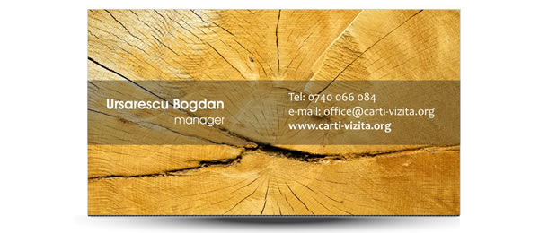 carte vizita textura lemn