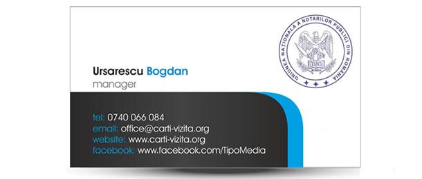 Carte de vizita cabinet notarial