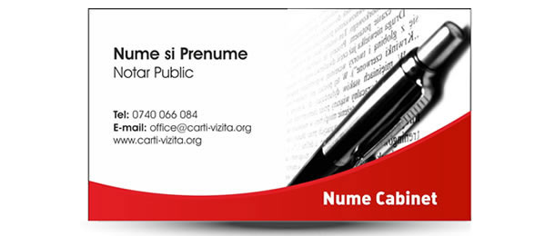 Carte de vizita birou notarial