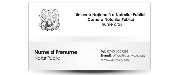 carte de vizita notarial
