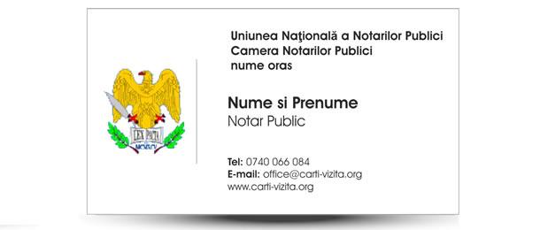 Birou notar carte de vizita