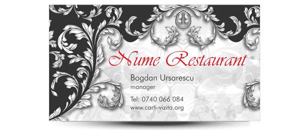 carte vizita restaurant elegant