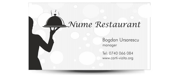 carte vizita restaurant fast food