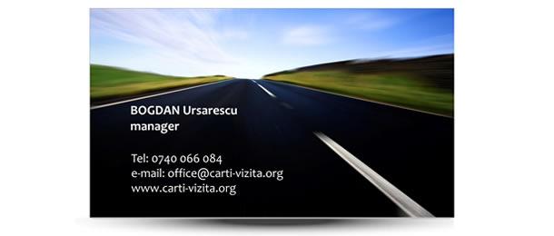 Carte vizita transport rapid