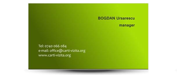 carte vizita agricultura verde