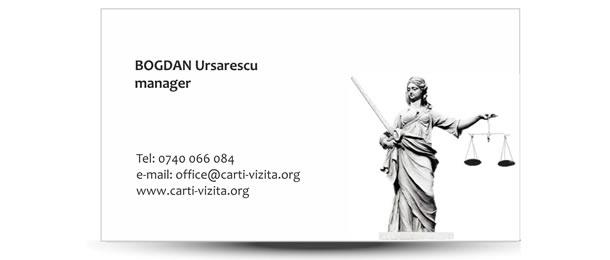 carte vizita justitie