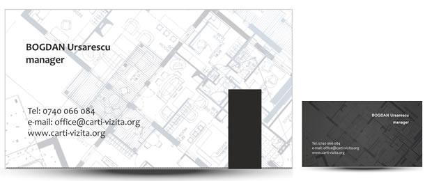carte vizita constructii plan