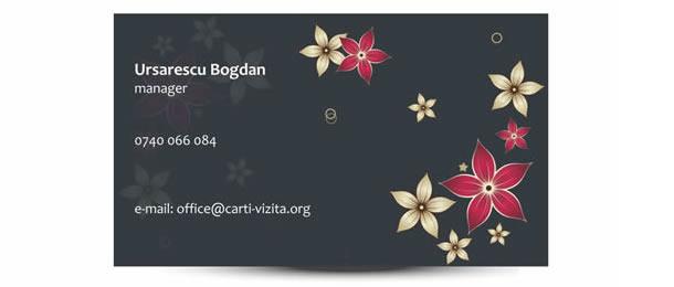 carti de vizita flori