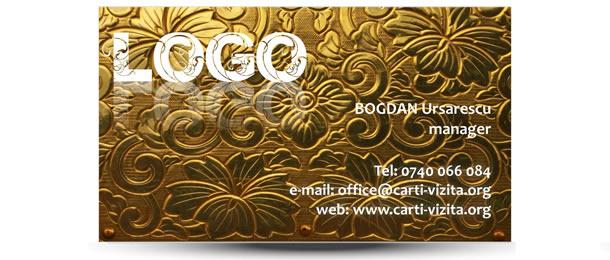 carte vizita logo auriu