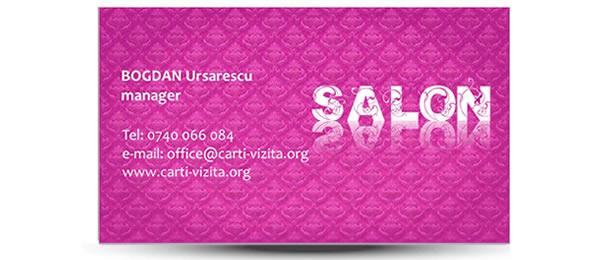 carte vizita manichiura roz / mov