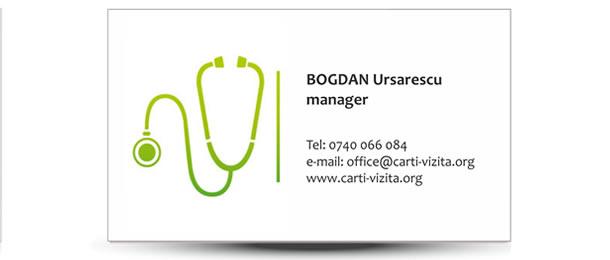 carte vizita medicina