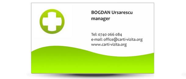 carti de vizita cabinet doctor