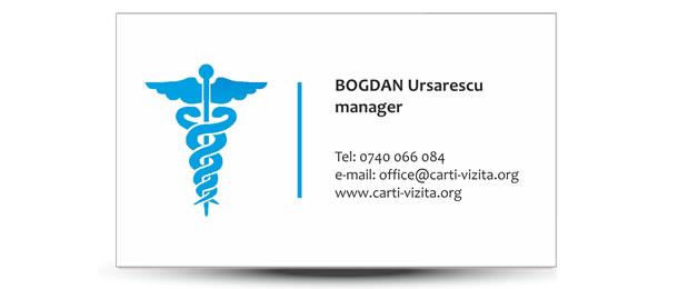 carte de vizita doctor