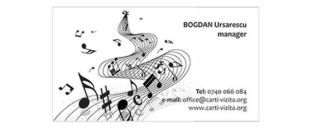 carte vizita compozitor - cantaret
