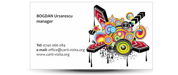 carte vizita muzica abstract