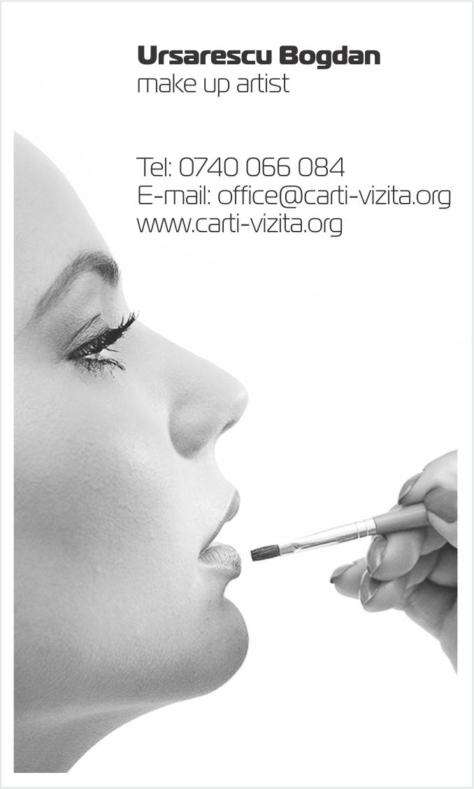 carte de vizita makeup machiaj