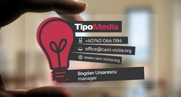 carte de vizita transparenta design