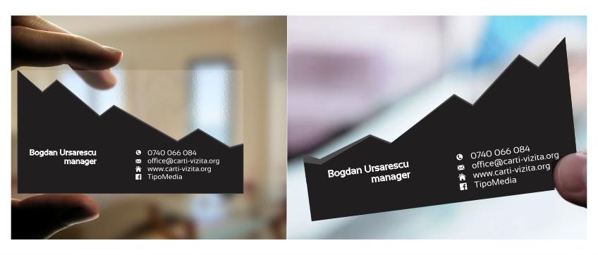 plastic + taiere carti de vizita