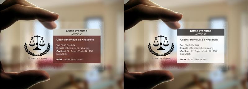 carte de vizita plastic avocat