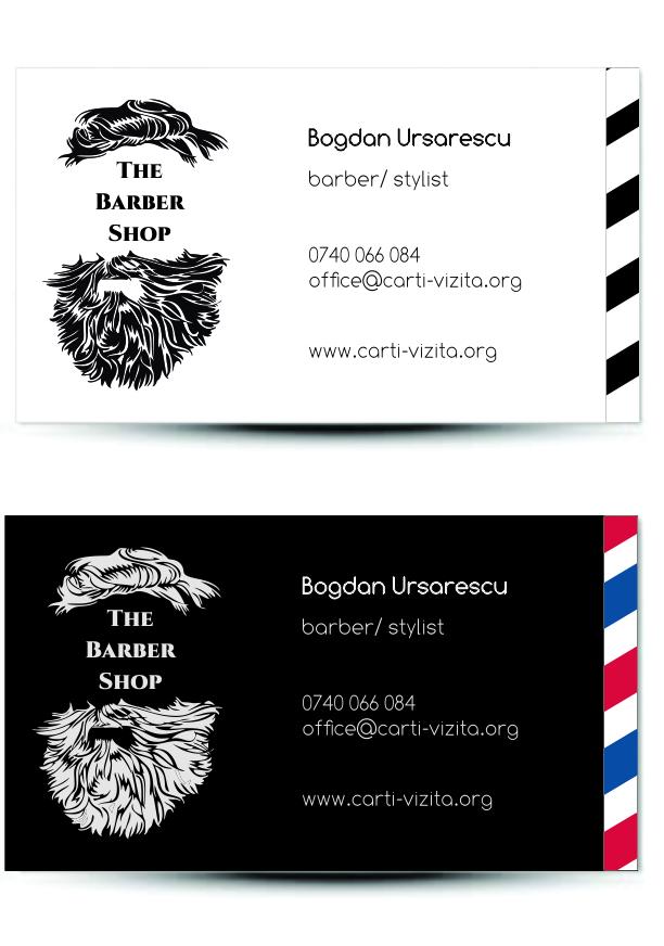 carte de vizita barbier